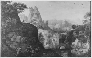 Berglandschap met roofoverval