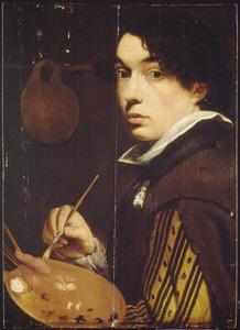 Zelfportret van een jonge Antwerpse schilder, possibly Jan Cossiers