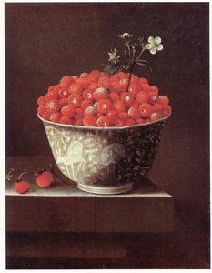 Een Wan Li-kom met aardbeien