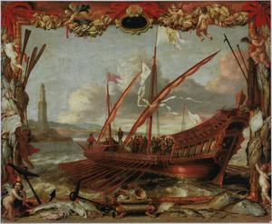 De aankomst van Don Juan van Spanje bij Genua, 23 maart 1656
