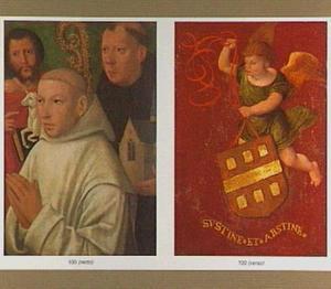 Donorportret met H. Johannes de Doper en H. Benedictus (achterzijde: Engel met wapenspreuk)