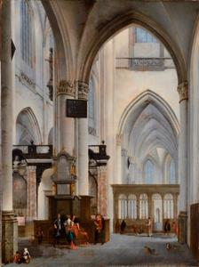 Interieur van de St. Jakobskerk te Antwerpen