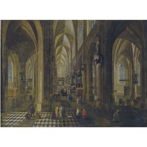 Interieur van de Onze Lieve Vrouwekathedraal van Antwerpen