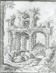 Zicht op een ruïne
