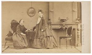 Portret van Anna Jacoba Wilhelmina barones van Pallandt (1827-1898) en Leopoldine Marie barones van Limburg Stirum (1817-1894)