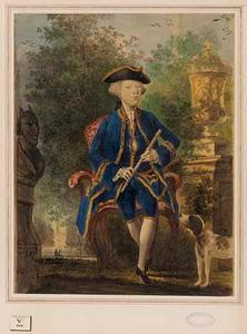 Portret van een man, mogelijk David Grenier Verwout Noiret (1745-1778)