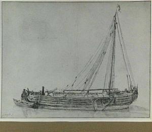 Vissersboot (zogenaamde Damloper) met sloep