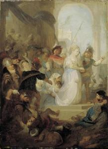 Ester zendt Hatak tot Mordekai om uit te vinden hoe de zaak er voor staat (Ester 4:5)