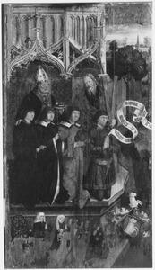 H. Andreas en een kerkvader met donoren