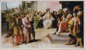 Christus voor zijn rechters Kajafas en Herodes