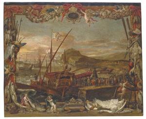 Inscheping van Don Juan van Oostenrijk