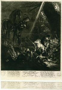 Het lijk van Prins Svend (?-1097) wordt gevonden  (Torquato Tasso, Het bevrijde Jeruzalem, gezang 8)