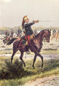 Officier van de dragonders, manoeuvre-uniform