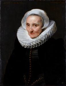 Portret van een onbekende 60-jarige vrouw