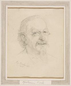 Portret van apotheker Koek (?-?)