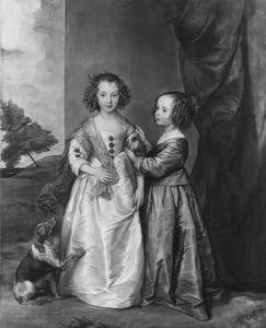 Dubbelportret van Elizabeth Wharton (?-?) en Philadelphia Wharton (?-?), op vijf- en vierjarige leeftijd