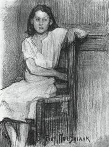 Seated girl on a chair