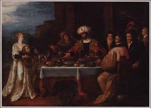 Salome brengt het hoofd van Johannes de Doper naar koning Herodes