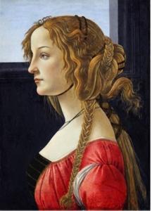 Profiel van een jonge vrouw