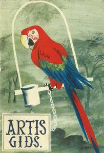 Ontwerp voor de omslag van de Artisgids met Papegaai