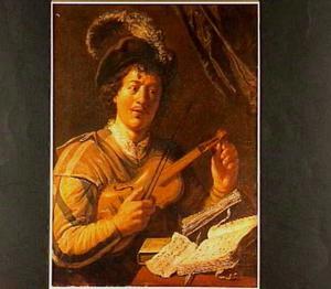 Jongeman die een viool stemt