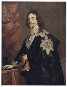 Portret van koning Karel I (1600-1649), met de Orde van de Kousenband
