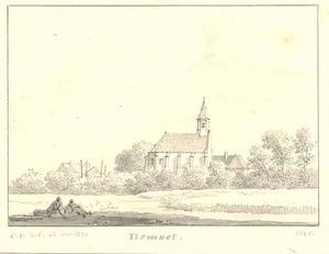 Gezicht op de kerk van Homoet, gemeente Valburg