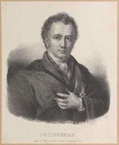 Portret van Jan Willem Pieneman (1779-1853)