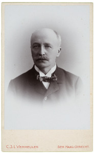Portret van Jeronimo Gerrit Abraham Nicolaas de Vries (1853-1925)