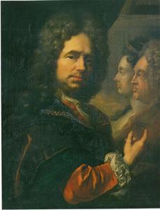 Zelfportret met het dubbelportret van het keurvorstenpaar Johann Wilhelm en Anna Maria Luisa van de Palts
