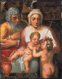 De H. Familie met de H. Johannes de Doper als kind