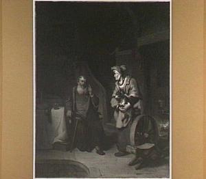 Tobit beschuldigt zijn vrouw Anna het bokje gestolen te hebben (Tobias 2:13-15)