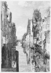 Dordrecht: Voorstraatshaven met Pelsebrug en Grote Kerk