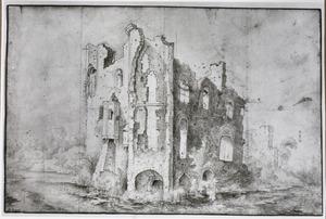Ruïne van kasteel Rossum, gezien vanuit het noordoosten