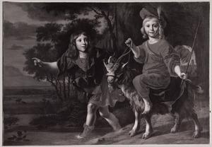 Dubbelportret van twee jongens
