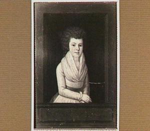 Portret van Johanna Maria Baldina van Oldenbarneveld genaamd Witte Tullingh (1772-1808), echtgenote van Mathias Jan Frederik van Tets