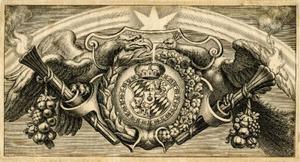 Vignet voor de titelpagina van B. Cordier, Catena Patrum Graecorum In S. Ioannem, Antwerpen 1630