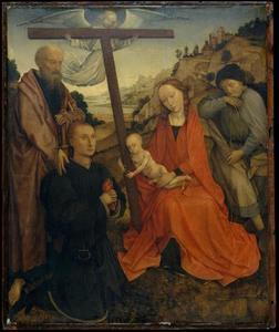 De heilige familie met schenker