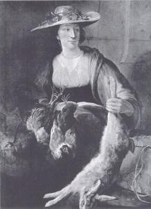 Vrouw met haas : personificatie van de Herfst