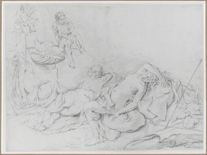 Cimone bespiedt Iphigeneia en haar slapende nimfen (Bocaccio, Decamerone 5:1)