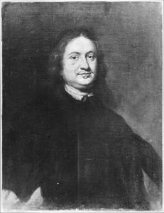 Portret van een man met een snor en lang haar