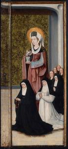 De H. Maria Magdalena met Heylwich Henricx van der Rullen en haar dochters (op binnenzijde: De H. Catharina met Henricxken van Langel en dood kind)