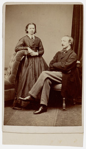Portret van Theodore Henri Westenberg (1855-1896) en Louise Alexandrine Eugenie Emilie van der Maesen de Sombreff (1858-1902)