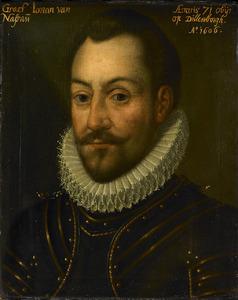 Portret van een man, mogelijk Lodewijk van Nassau (1538-1574)