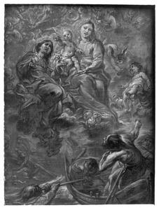 Maria met kind als beschermvrouwe der schipbreukelingen