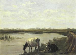 Koeien bij het water (kopie naar Stortenbeker)
