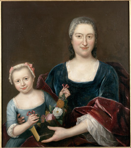 Dubbelportret van Maria le Plat (1697-1784) en haar dochter Maria Philippina Schrijver (1732-1798)