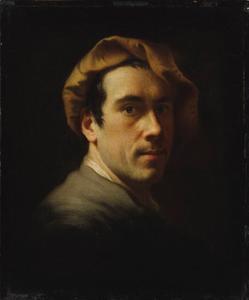 Zelfportret van de kunstenaar Christian Seybold (1695-1768)