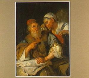 Tobit en Anna in grote onrust over het wegblijven van hun zoon Tobias