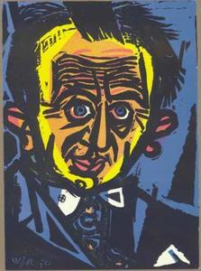Zelfportret van Willem Rozendaal (1899-1971)